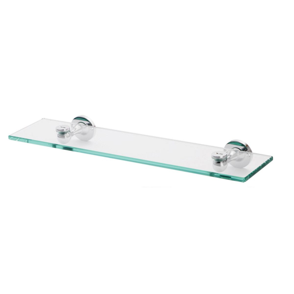 glass bathroom shelves chrome | bathroom decoration plan