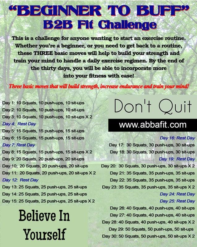 b2b fit challenge workout