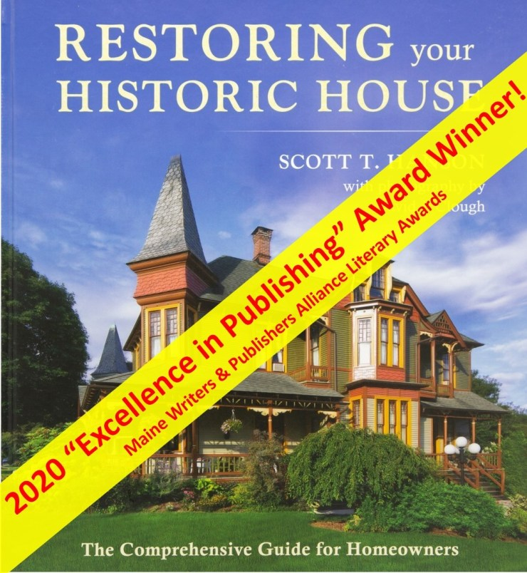 Restoring Your Historic House 2020 Excellence in Publishing Award Winner