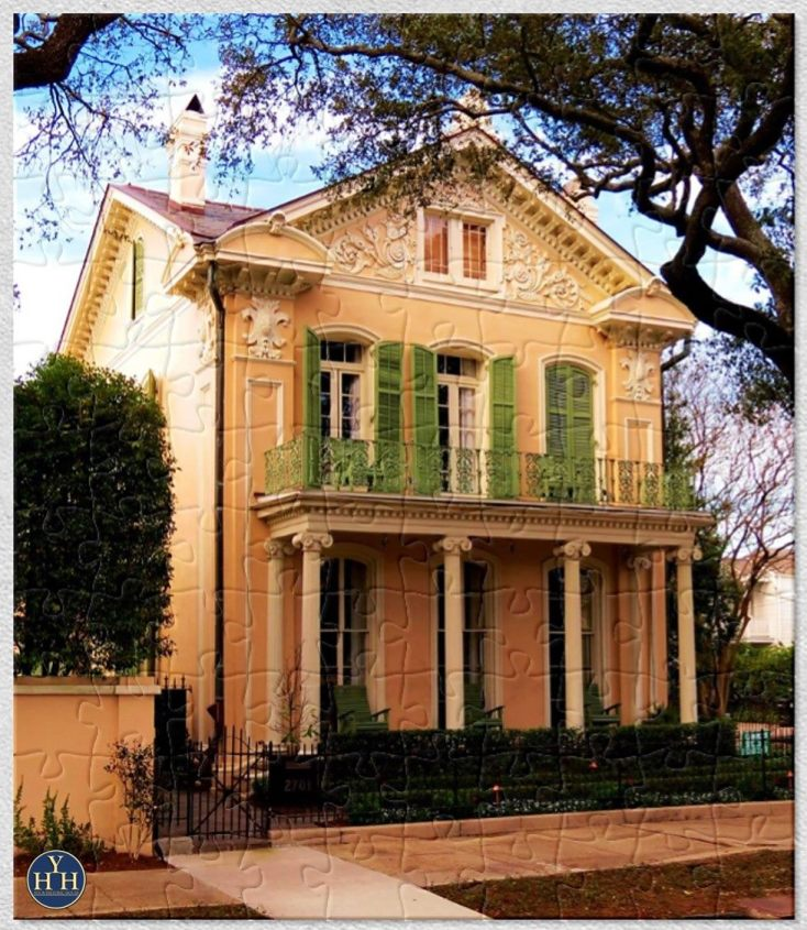 New Orleans Garden District Neo-Classical Puzzle Historic House