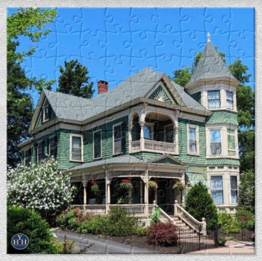 All American Queen Anne Puzzle Historic House