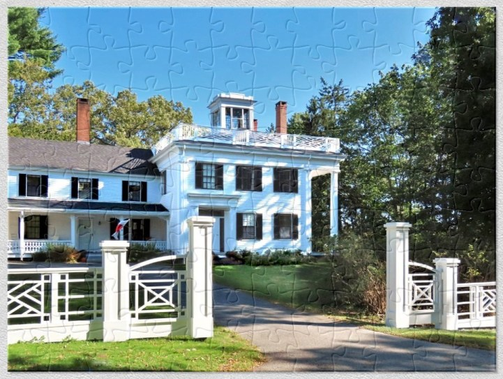 Greek Revival with an Asher Benjamin Fence Puzzle Historic House