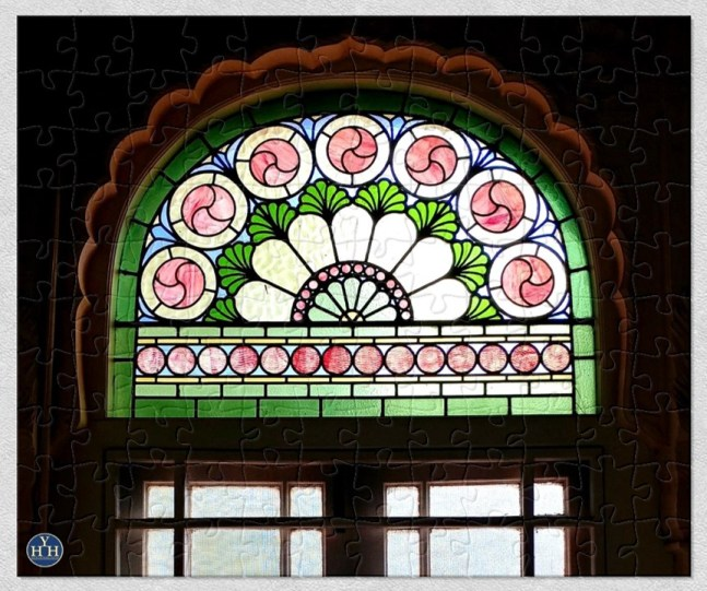 Stained Glass in an Indian Palace Historic House Puzzle