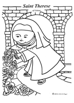 Saint Therese in the Garden