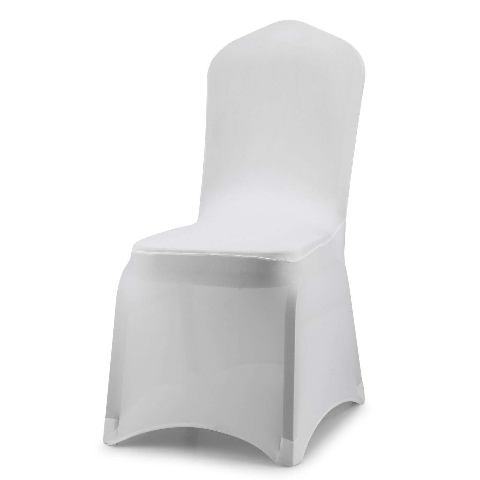 Universal White Polyester Spandex Folding Chair Covers