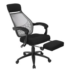 Desk Chair Fabric Crushed Velvet Bedroom Office Computer Executive High Back Mesh Seat