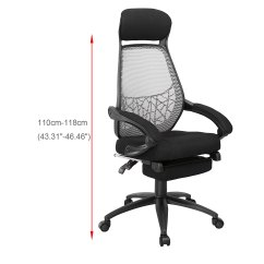 Relax Your Back Chair Heavy Duty Resin Chairs Executive Reclining Office Fabric Mesh High
