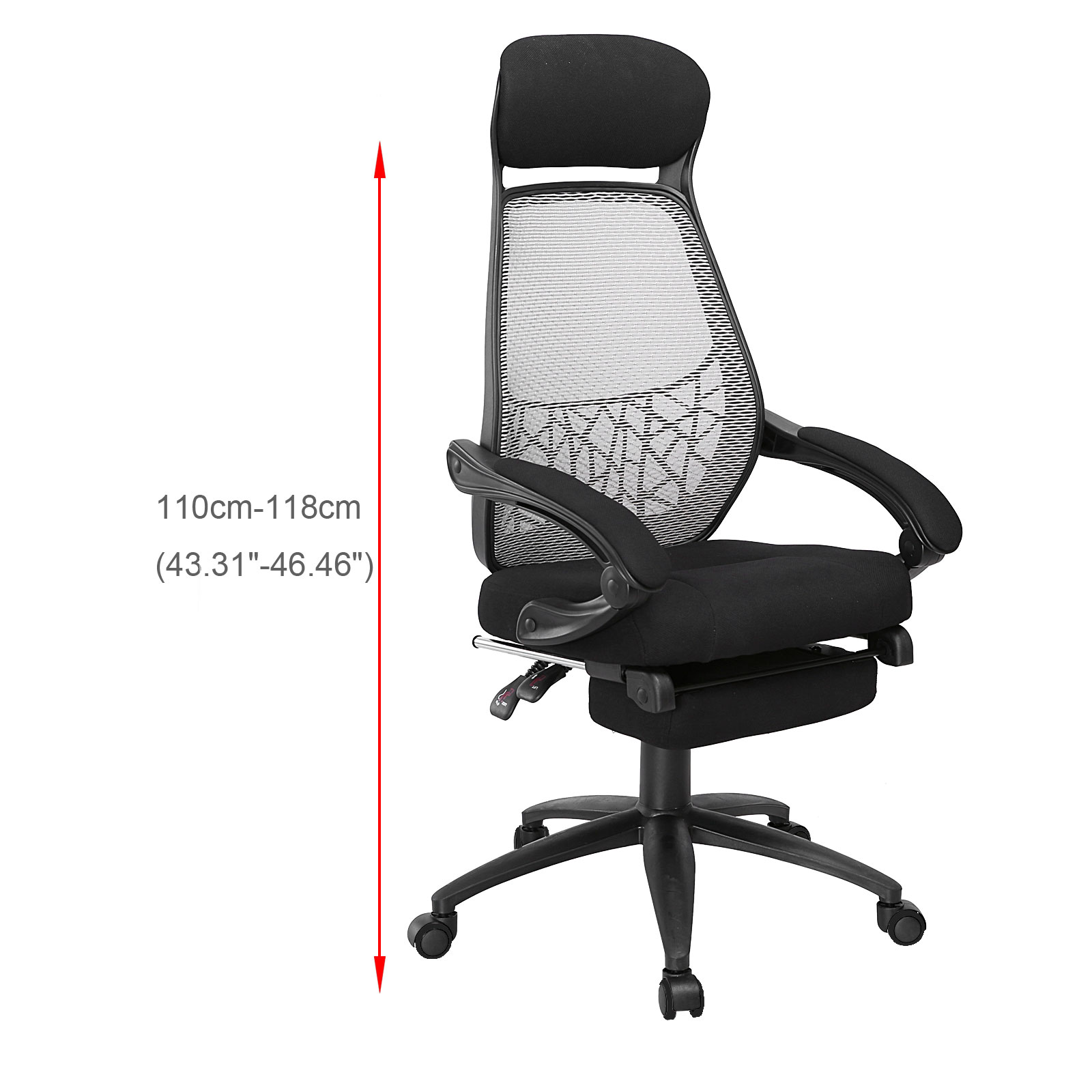 office chair footrest is there a hickory outlet executive reclining fabric relax mesh high