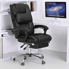 Reclining Office Chair With Footrest India Video Gaming Chairs Executive Ergonomic High Back