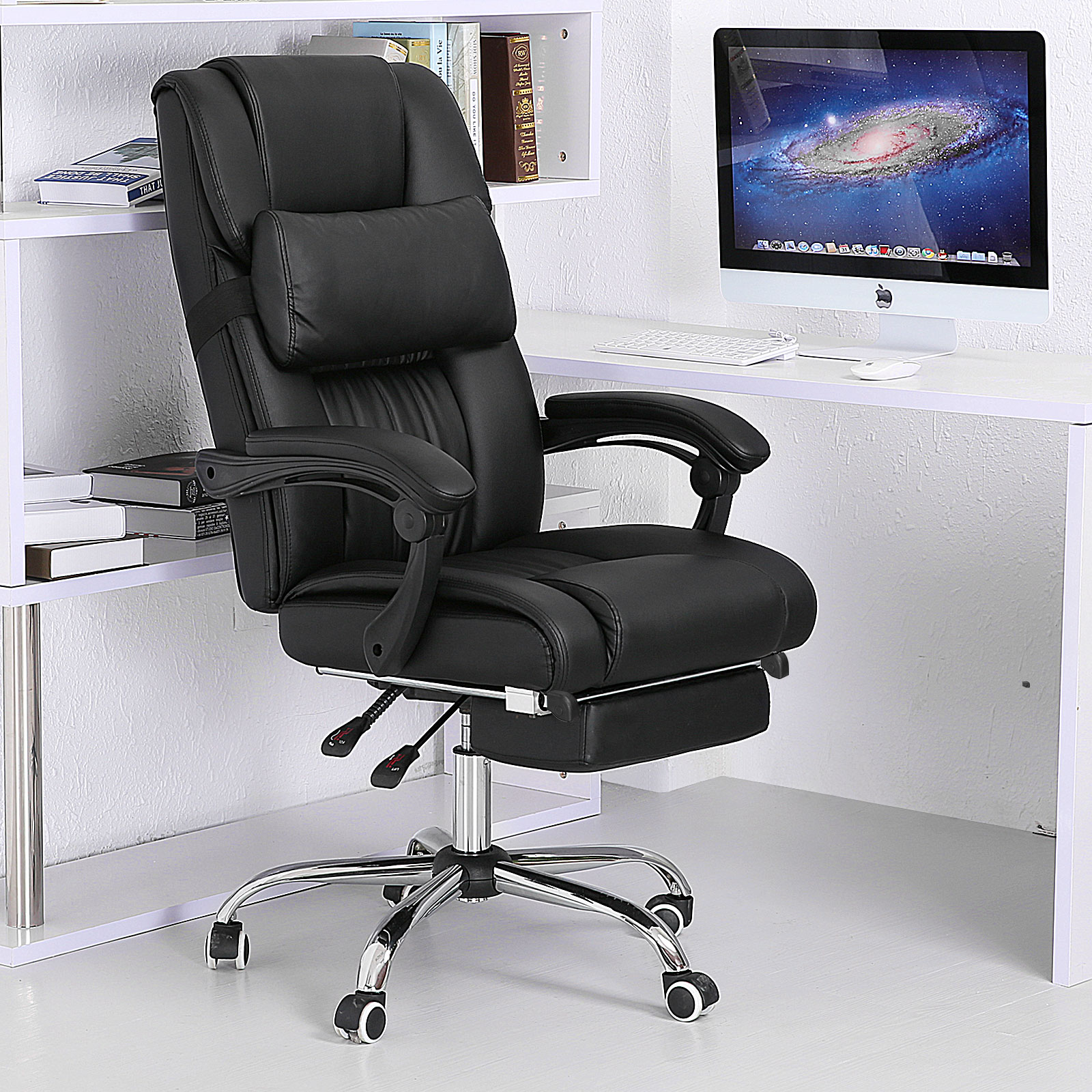 office chair footrest best cheap chairs executive ergonomic high back reclining