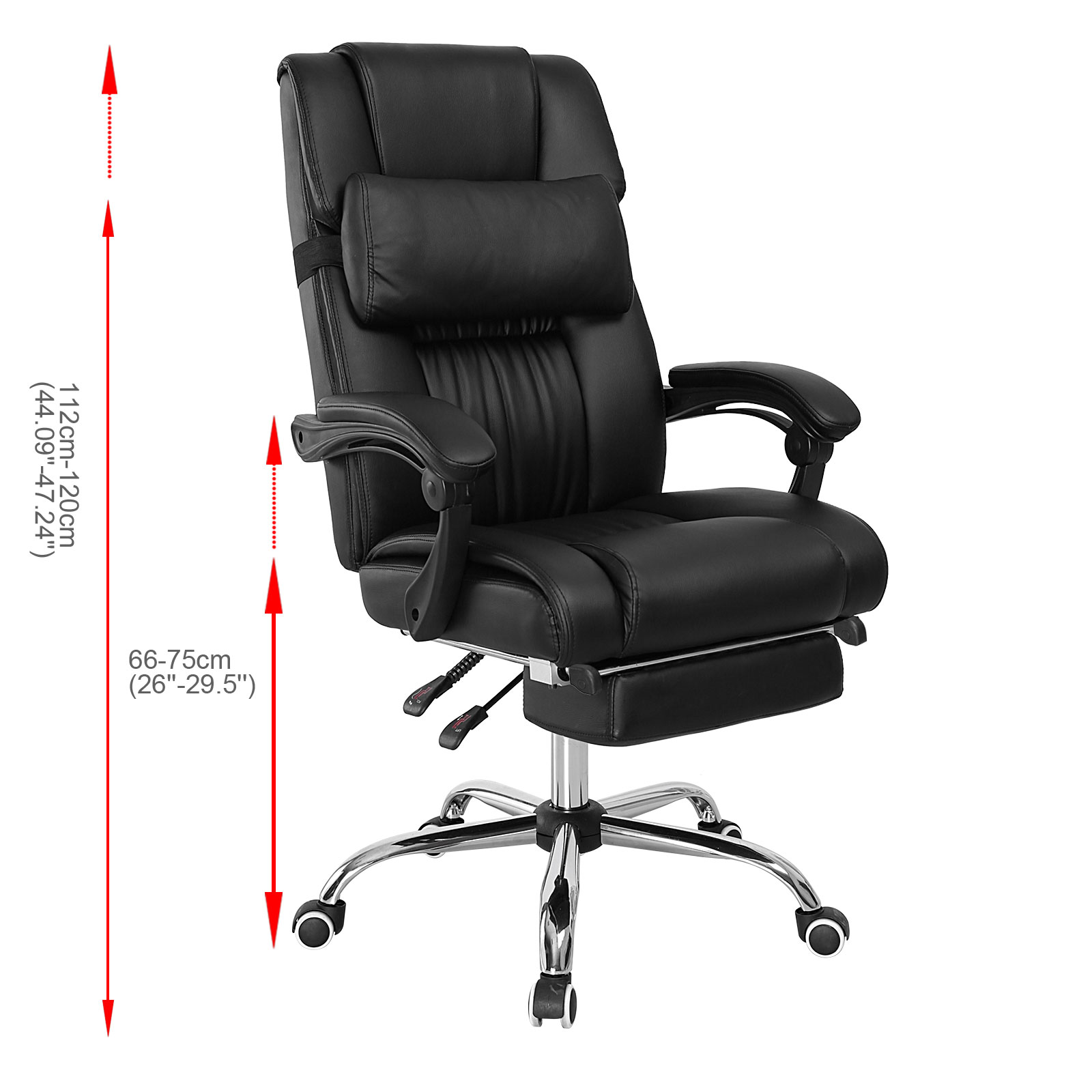 ergonomic chair with footrest vintage dining table and chairs executive reclining office high back