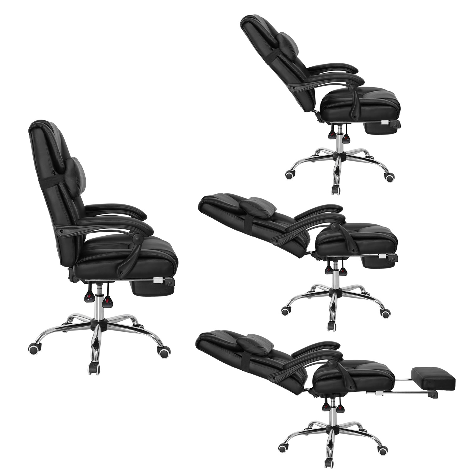 Office Chair Footrest Executive Office Chair Ergonomic High Back Reclining