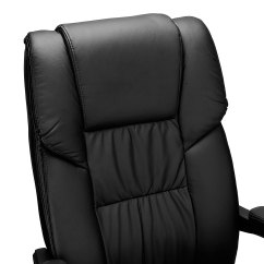 Reclining Office Chair With Footrest Uk Student Desk Combo Recline Executive Computer Pu Leather High