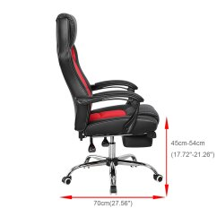 Reclining Office Chair With Footrest Uk Irish Deck Gaming Executive Computer Racing Swivel