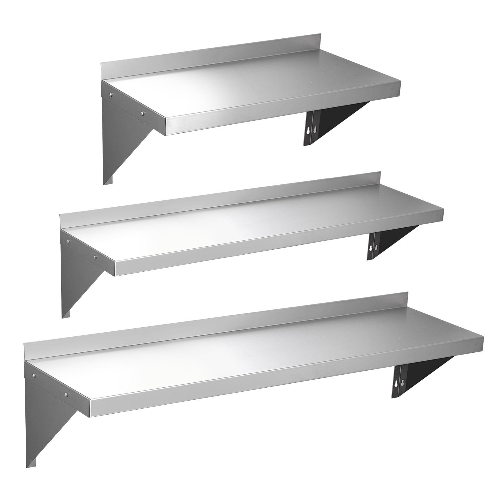 stainless steel kitchen shelf containers 600 900 1200mm commercial wall
