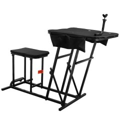 Fold Up Chairs Target Office Max Computer Shooting Table Bench Rest Rifle Range Folding
