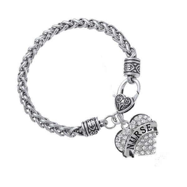 bracelet-ladies-nurse-clear-crystals-heart
