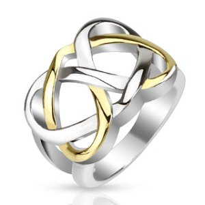 ring-ladies-stainless-steel-gold-eternal-link-cast