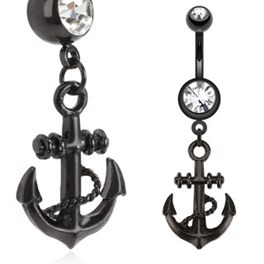 body-jewellery-navel-ring-surgical-stainless-steel-black-anchor-dangle