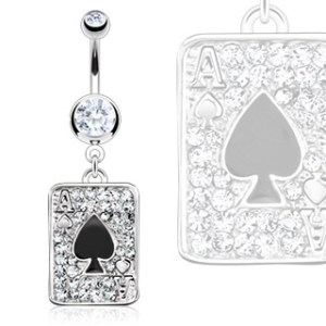 body-jewellery-navel-ring-surgical-stainless-steel-multi-paved-gem-black-spade-ace-poker-card
