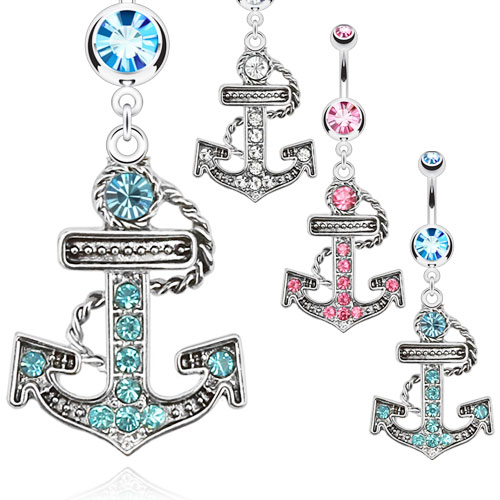 body-jewellery-navel-ring-surgical-steel-paved-gems-anchor-dangle