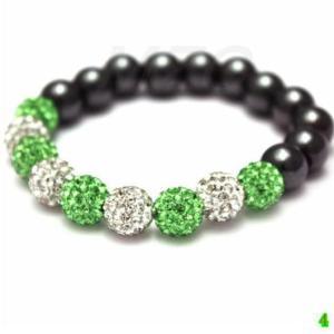 bracelet-shamballa-green-white