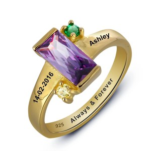 ring-ladies-24kt-gold-plated-personalised-birthstone-large-stone-engraved-1003