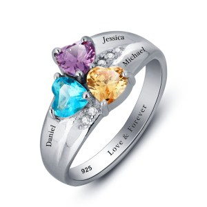 ring-ladies-sterling-silver-personalised-birthstone-three-names-engraved-1036