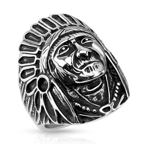 ring-mens-stainless-steel-wide-cast-apache-indian-chief-shield