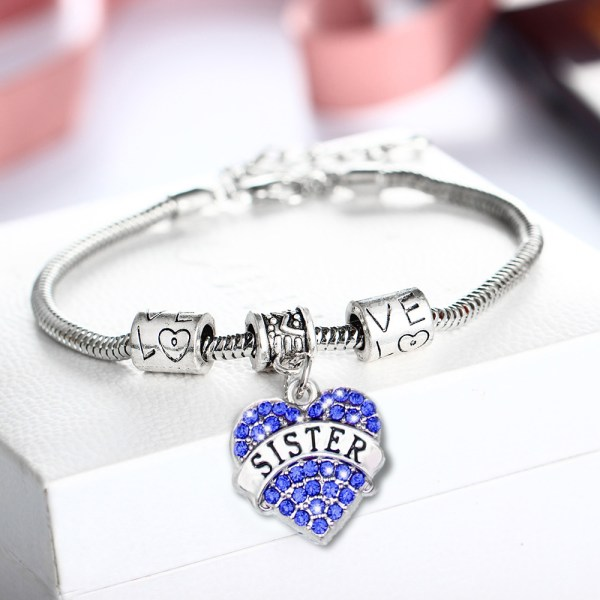 3-Colors-Vintage-Silver-Plated-Lovely-Crystal-Heart-Bracelet-Charm-Rhinestone-Sister-Sis-Party-Girl-Family
