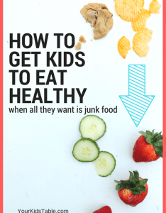 Help my child won   eat anything but junk food learn how to also getting kids healthy when they rh yourkidstable