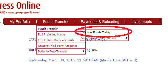 How to Transfer Funds with BPI Online Banking
