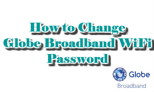 How to change wifi password globe on mobile