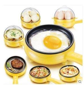 PETRICE 2-In-1 Multi-functional Electric Mini Egg Boiler