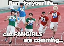 Run for your life fangirls meme