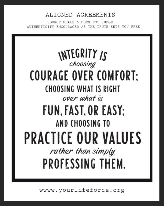 integrity is a clean energetic vibe