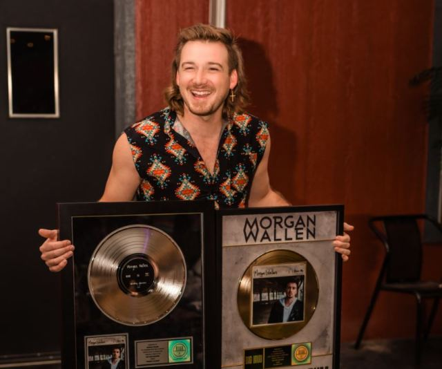 Morgan Wallen Celebrates Multiple Gold & Platinum Certifications
