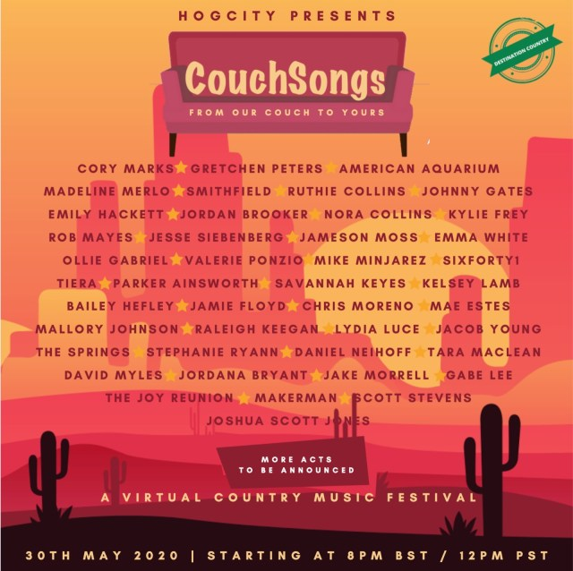 First Wave Of Artists Announced For 'CouchSongs'