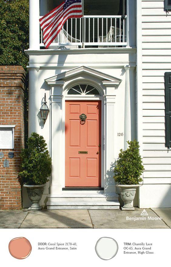 Superbe Favorite Front Door Colors Coral Spice Photo Courtesy Of Benjamin Moore
