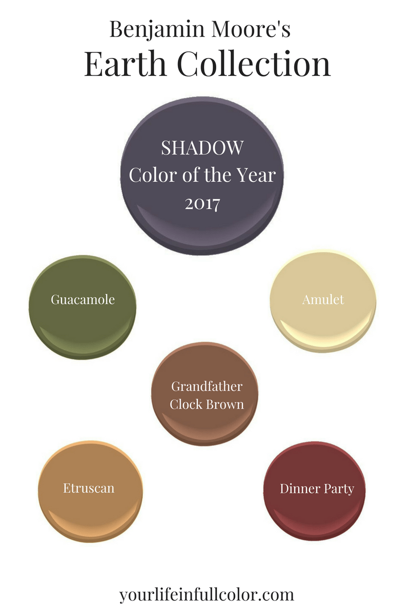 Earthy Colors benjamin moore's color of the year 2017 - laura brzegowy