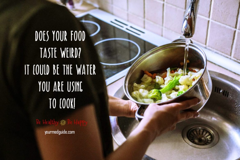 Does Tap Water Influence the Taste of Food? #health #water #waterpurifier