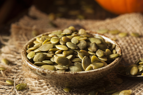 Pumpkin seeds. Ten protein packed vegan weight loss foods
