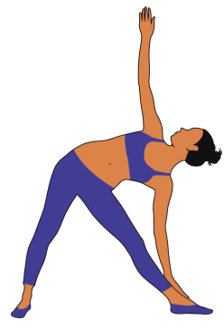 Triangle Pose. 7 best yoga poses to strengthen your core