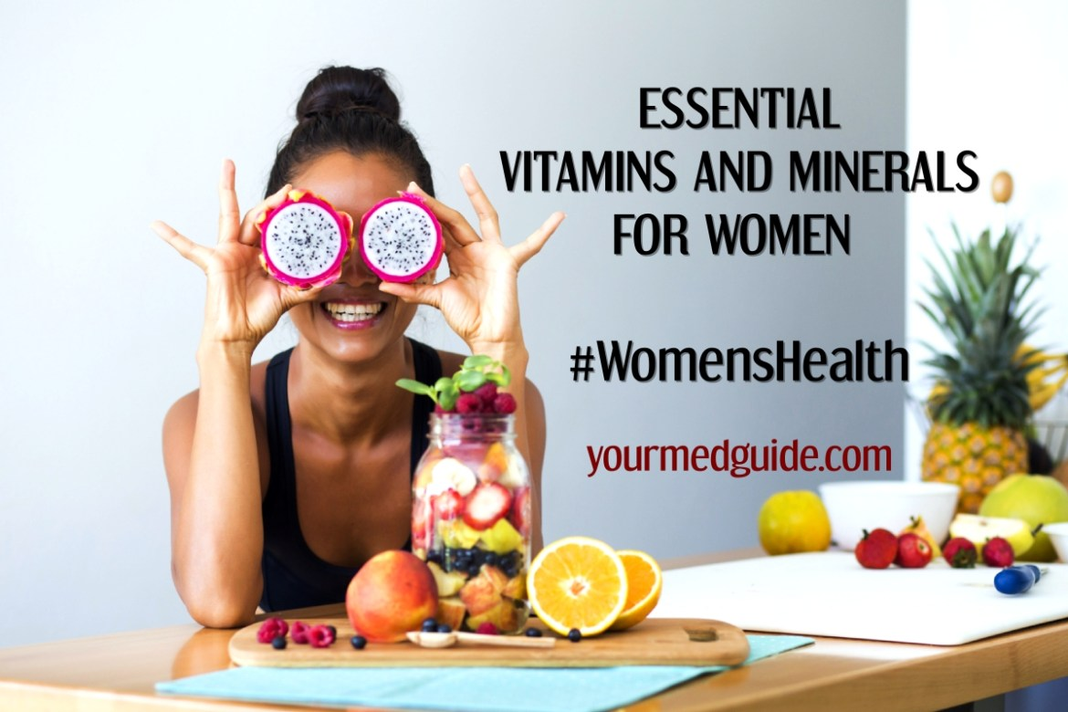 Importance of Vitamins and minerals for women's health and sources. Whether vitamin or mineral supplements are necessary and are they safe? #womenshealth #vitaminsandminerals #micronutrients #health