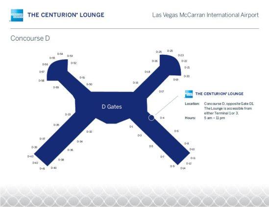AMEX lounge map