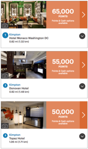 Booking kimpton hotels with ihg points