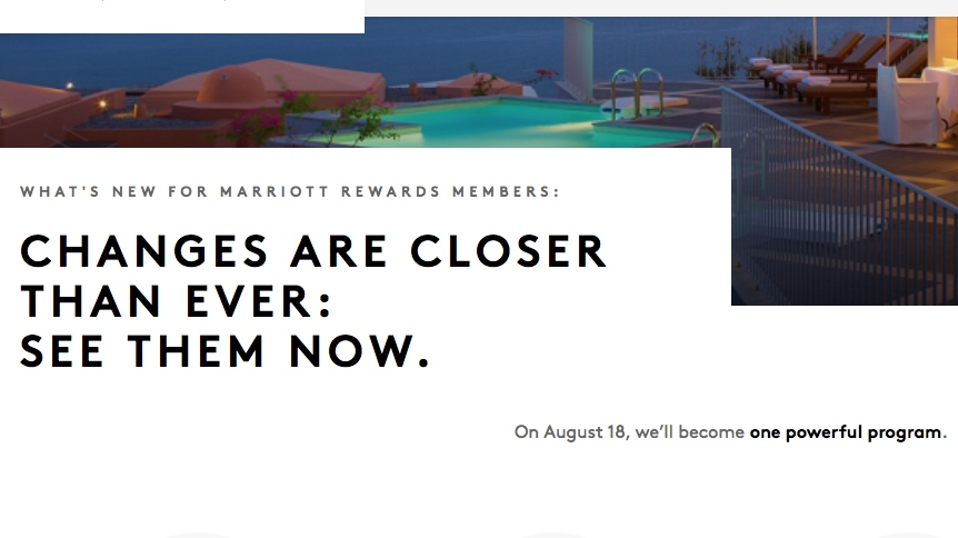 Act Now! Starwood Preferred Guest and Marriott Rewards Merge Tomorrow!