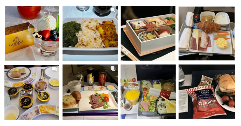 One Of The Latest On Instagram? A Site Devoted To Rating Airplane Food