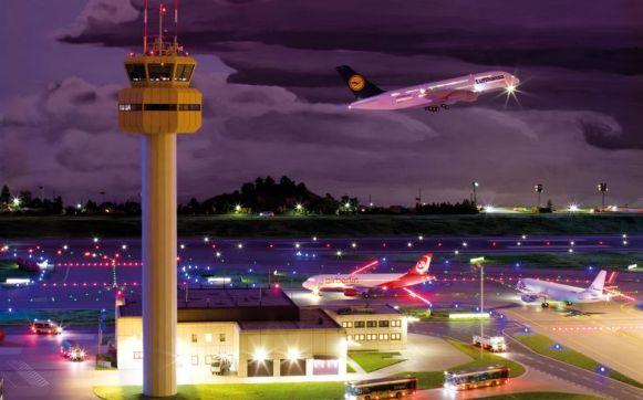 Vom Terminal aus hat man einen hervorragenden Blich auf die startenden Maschinen.