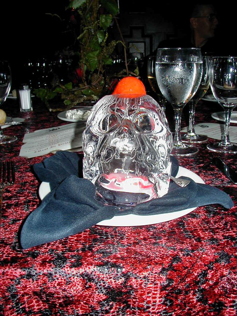 Raspberry Sorbet on an Ice Skull